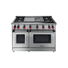 """See Details - 48"""" Gas Range - 4 burners and Infrared Charbroiler and Griddle"""