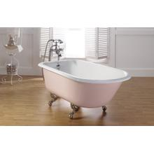 "TRADITIONAL Cast Iron Bath With 3 3/8"" Faucet Holes in Tub Wall"