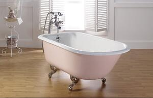 """TRADITIONAL Cast Iron Bath With 3 3/8"""" Faucet Holes in Tub Wall Product Image"""