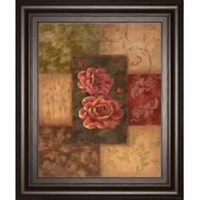 """Camellias On Chocolate"" By Vivian Flasch Framed Print Wall Art"