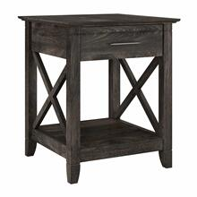 See Details - End Table with Storage, Dark Gray Hickory