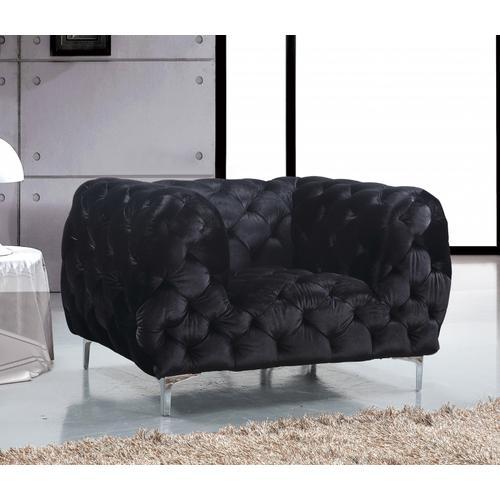 """Mercer Velvet Chair - 47"""" W x 35"""" D x 28.5"""" H"""