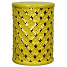 Lattice Garden Stool, Lemon Product Image