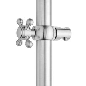 Unlacquered Brass - Ball Cross Grab Bar Handshower Slider
