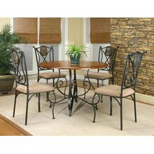 "W2597-61/63/01  Ravine 45"" Dining Tbl 5 PC Set"