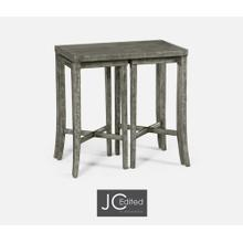 Nesting Cocktail Tables in Antique Dark Grey