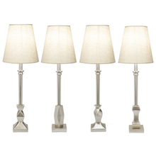 Silver Contemporary Buffet Lamp. 40W Max. (4 pc. ppk.)