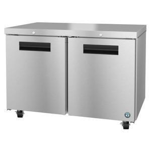 HoshizakiUF48A-01, Freezer, Two Section Undercounter, Stainless Doors with Lock
