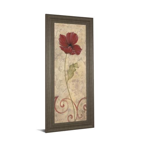 """Red Flower II"" Framed Print Wall Art"
