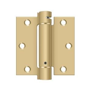 """Deltana - 3-1/2"""" x 3-1/2"""" Spring Hinge - Brushed Brass"""