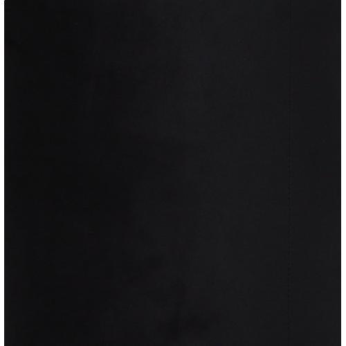 Tov Furniture - Opal Black Velvet Ottoman -Gold Base