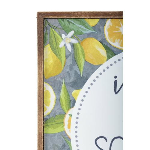 Lemons Wall Block Decor - Ast 4