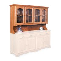 "Classic Open Hutch Top, 76"", Antique Glass Product Image"