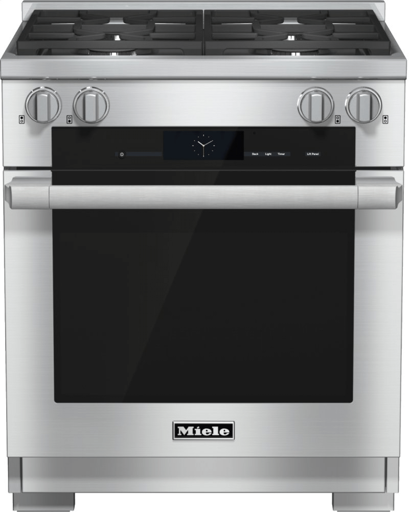 MieleHr 1924-2 Lp - 30 Inch Range Dual Fuel With M Touch Controls, Moisture Plus And M Pro Dual Stacked Burners