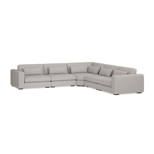 Bassett Furniture - Moby 5 Piece L-Shaped Sectional