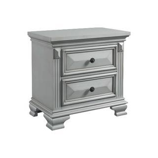 Calloway 2-Drawer Nightstand in Grey