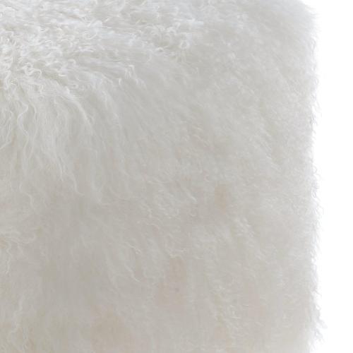 Tibetan Sheep White Pouf