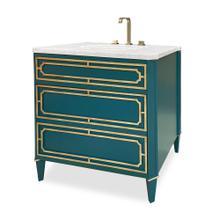 See Details - Emperor Medium Sink Chest - Peacock