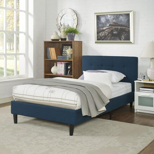 Linnea Twin Bed in Azure
