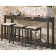 4 PIECE SET (COUNTER TABLE AND 3 STOOLS)