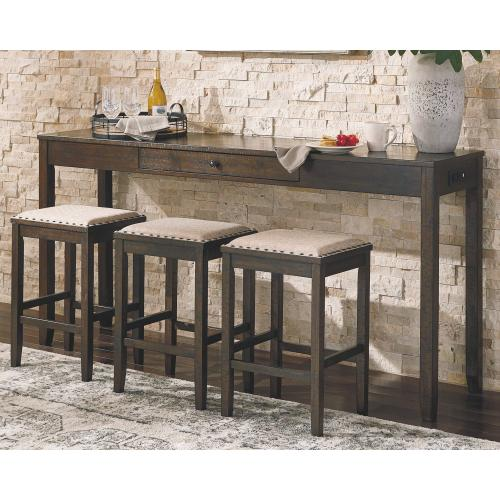 Rokane Counter Height Dining Table and Bar Stools (set of 4)