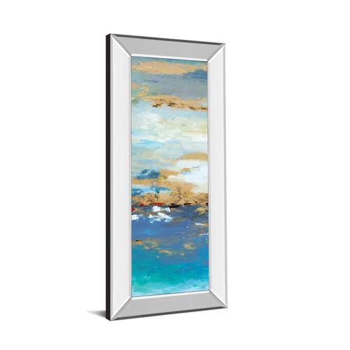 """""""Sea Mystery Panel Il"""" By Patricia Pinto Mirrored Framed Print Wall Art"""
