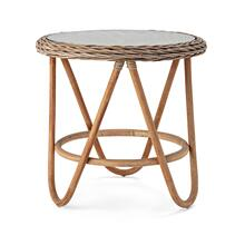 See Details - Lamine Glass Top Rattan Table