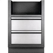 """OASIS Under Grill Cabinet for BI 700 Series 18"""" and 12"""" Burners for Built-in 700 Series Dual Burners , Grey"""