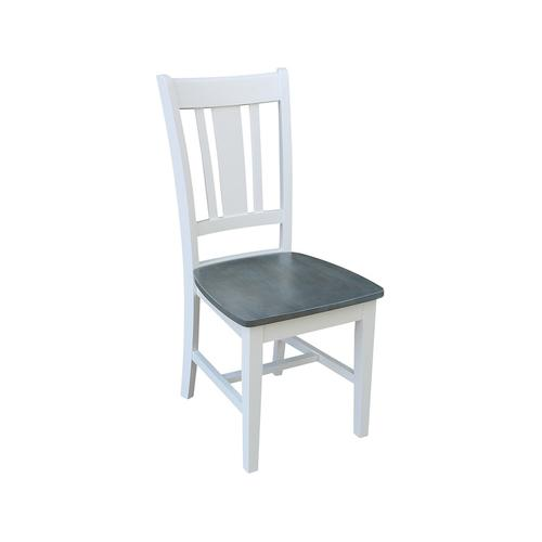 John Thomas Furniture - San Remo Chair in White Grey
