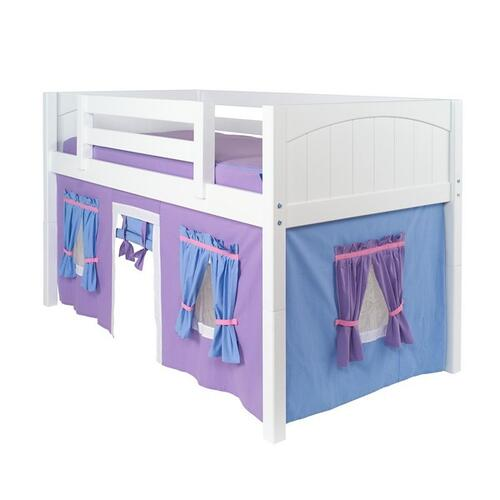 See Details - Under Bed Curtain : Purple/Light Blue/Hot Pink