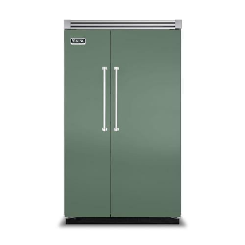 "Viking - Mint Julep 48"" Side-by-Side Refrigerator/Freezer - VISB (Integrated Installation)"
