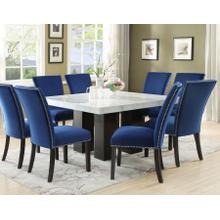 Camila Blue Velvet Side Chair