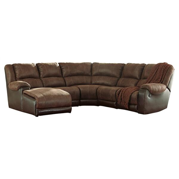 See Details - Nantahala 5-piece Reclining Sectional With Chaise