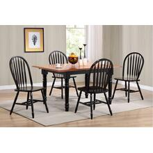 DLU-TLB3660-820-AB5PC  5 Piece Butterfly Leaf Dining Set  Arrowback Chairs