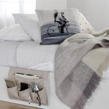Canvas Bedside Storage Caddy - Beige