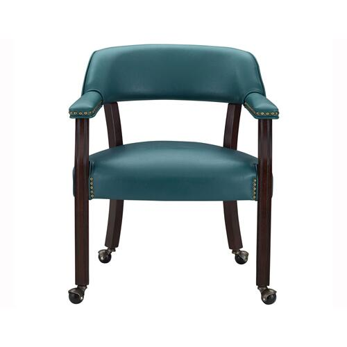 Tournament Arm Chair w/Casters, Teal