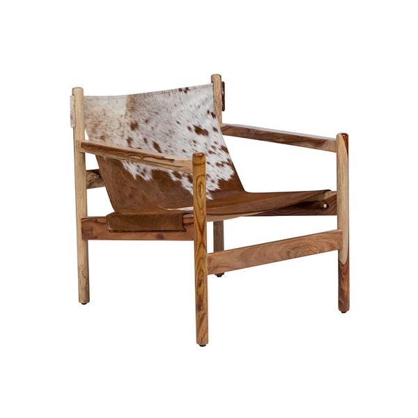 See Details - Genoa Cowhide Sling Chair, SLGC30