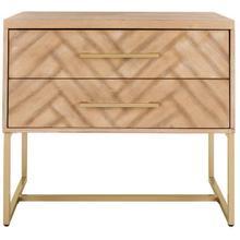 See Details - Estelle Nightstand - Rustic Oak