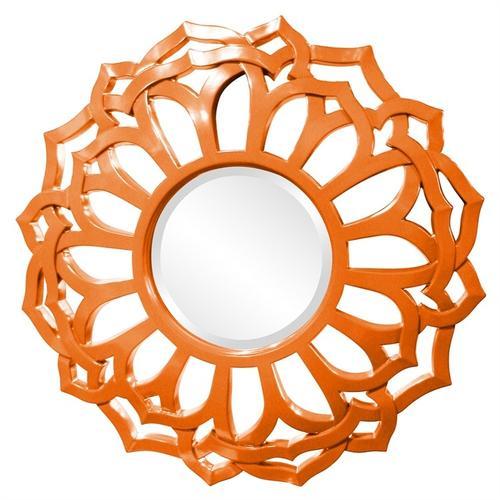 Casey Mirror - Glossy Orange