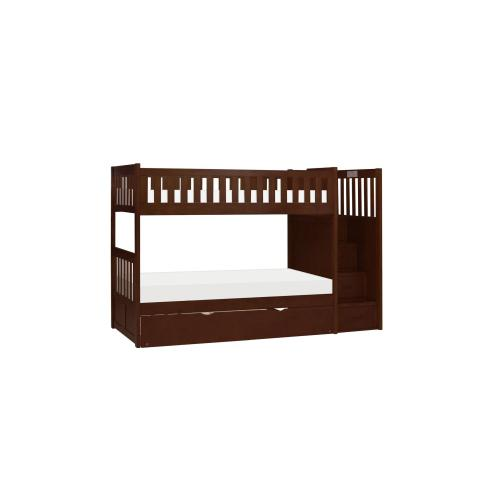 Twin/Twin Step Bunk Bed with Storage Boxes