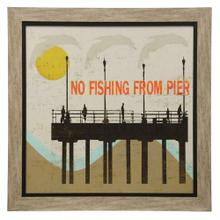 See Details - Posted At the Pier Textured Framed Print