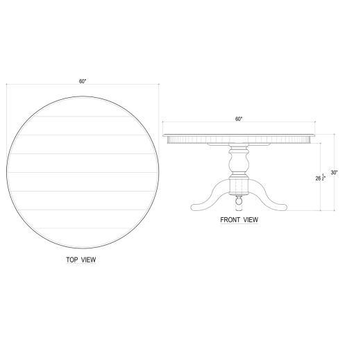 Farmhouse 5' Round Pedestal Table - WHD DRW