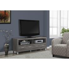 """See Details - TV STAND - 60""""L / DARK TAUPE WITH 4 DRAWERS"""