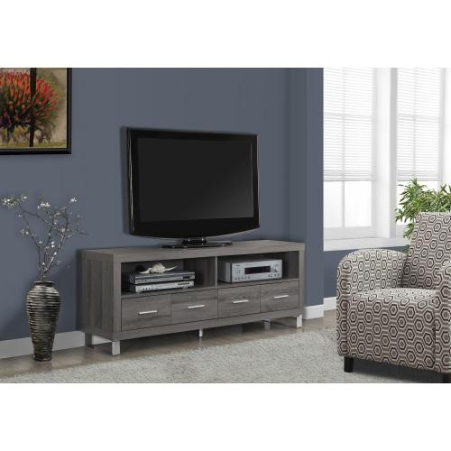 """Gallery - TV STAND - 60""""L / DARK TAUPE WITH 4 DRAWERS"""