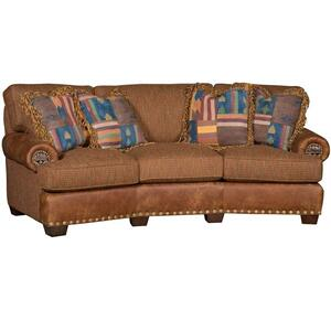 King Hickory - Henson Leather/Fabric Sofa