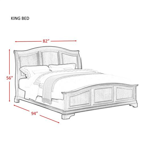 Cameron Cherry King Panel Bed Cherry