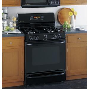 """GE Profile Spectra 30"""" Free-Standing Self Clean Convection Gas Range with Warming Drawer"""
