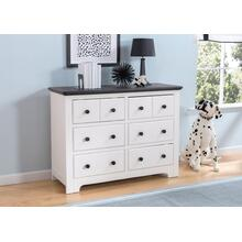 Providence 6 Drawer Dresser - Bianca with Rustic Ebony (135)