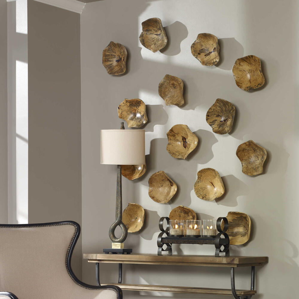 See Details - Tamarine Wood Wall Decor, S/3