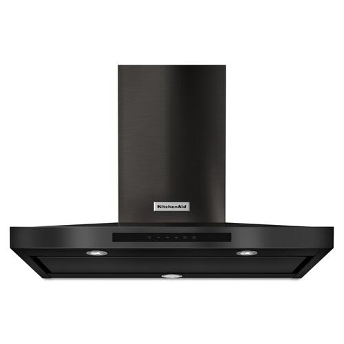 """KitchenAid - 36"""" Wall-Mount, 3-Speed Canopy Hood - Black Stainless"""